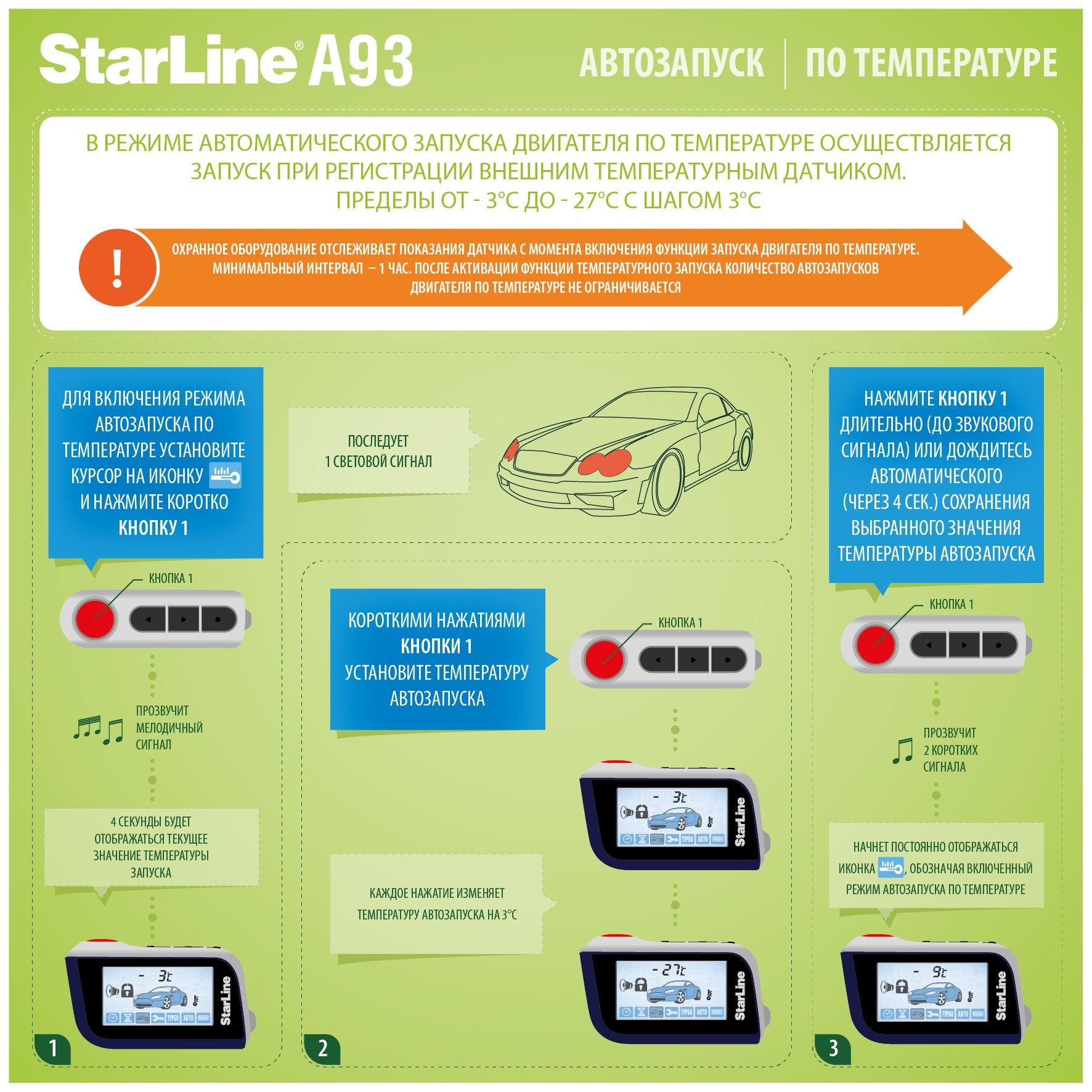Инструкция starline c автозапуском